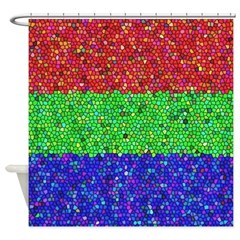 Martian Tricolore Stained Glass Shower Curtain