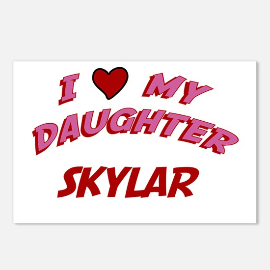 I Love My Daughter Skylar Postcards (Package of 8)