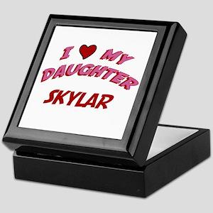 I Love My Daughter Skylar Keepsake Box