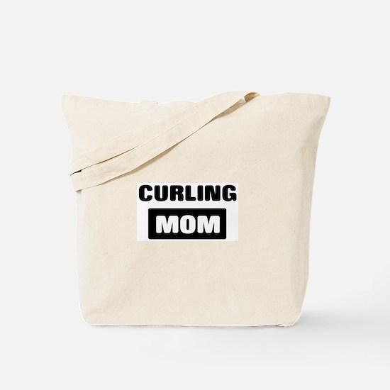 CURLING mom Tote Bag