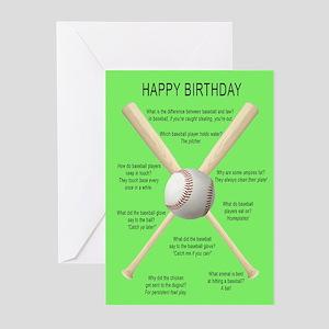 Funny birthday card, awful baseball jokes Greeting
