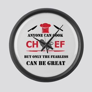 Chef Large Wall Clock