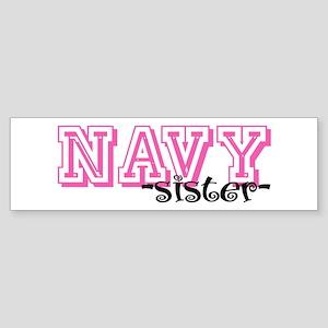 NAVY Sis - Jersey Style Bumper Sticker