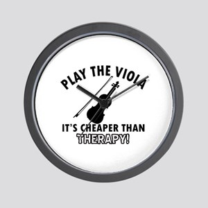 Viola It's Cheaper Than Therapy Wall Clock