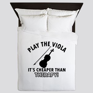 Viola It's Cheaper Than Therapy Queen Duvet