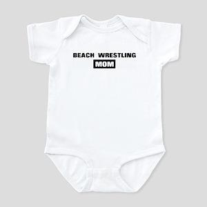 BEACH WRESTLING mom Infant Bodysuit
