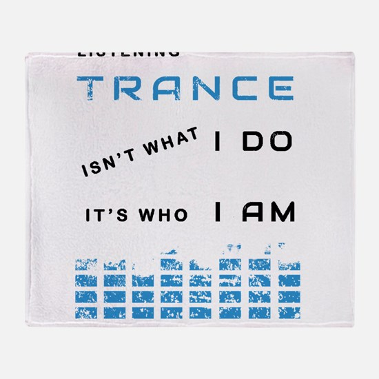 Trance Music Throw Blanket