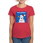 Schmoe Santa Rabbit Women's Dark T-Shirt