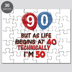 90 years.. but technically younger Puzzle