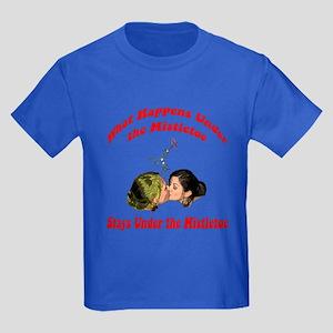 ...Under The Mistletoe Kids Dark T-Shirt