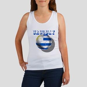 Uruguay Soccer Ball Women's Tank Top