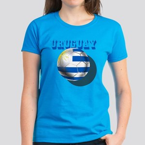 Uruguay Soccer Ball Women's Dark T-Shirt
