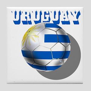 Uruguay Soccer Ball Tile Coaster