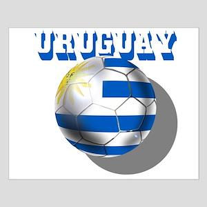 Uruguay Soccer Ball Small Poster