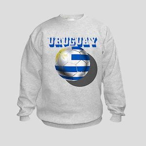 Uruguay Soccer Ball Kids Sweatshirt