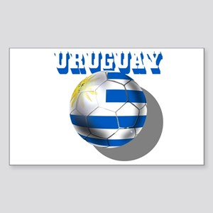 Uruguay Soccer Ball Sticker (Rectangle)