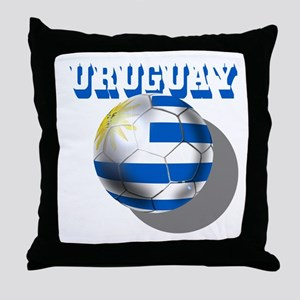 Uruguay Soccer Ball Throw Pillow