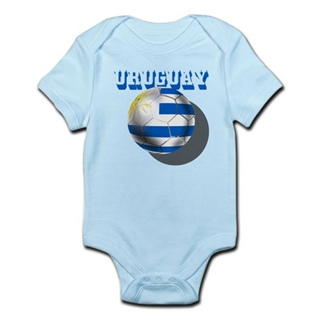 Uruguay Soccer Ball Infant Bodysuit