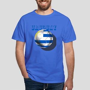 Uruguay Soccer Ball Dark T-Shirt