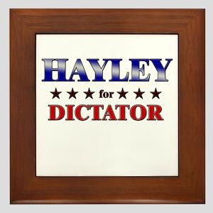 HAYLEY for dictator Framed Tile