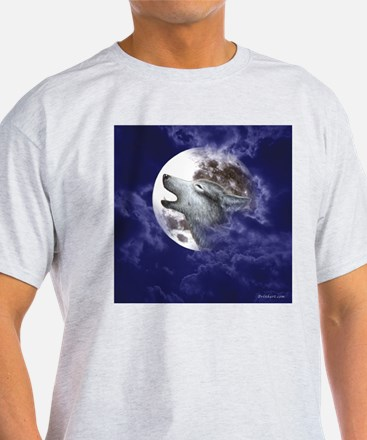Moon Wolf ~ White T-Shirt (2 Sides) T-Shirt