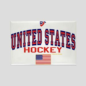 US(USA) United States Hockey Rectangle Magnet