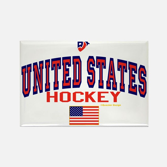 US(USA) United States Hockey Rectangle Magnet