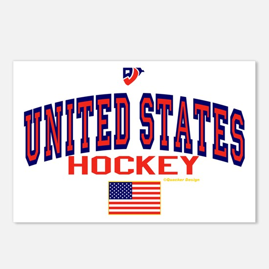 US(USA) United States Hockey Postcards (Package of