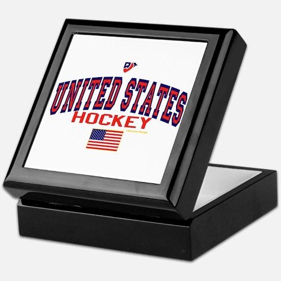 US(USA) United States Hockey Keepsake Box