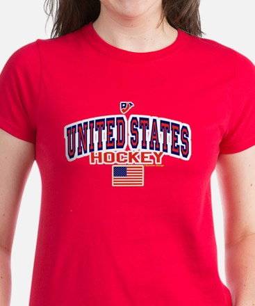 US(USA) United States Hockey Women's Dark T-Shirt
