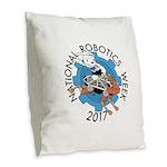 NRW2017Logo Burlap Throw Pillow
