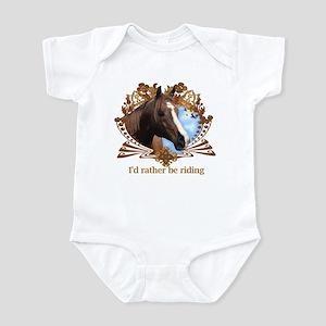 I'd Rather Be Riding Horses Infant Bodysuit