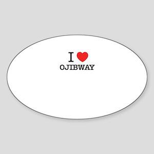 I Love OJIBWAY Sticker