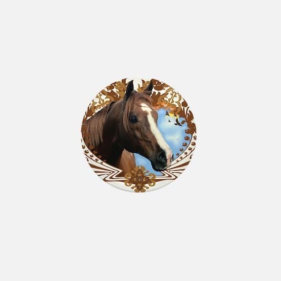 Horse Lover Crest Graphic Mini Button