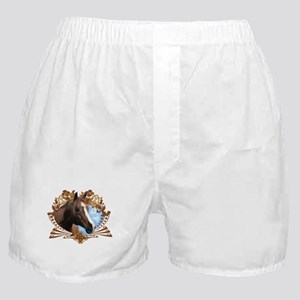 Horse Lover Crest Graphic Boxer Shorts