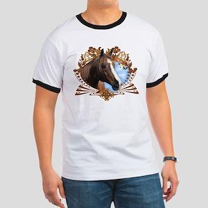 Horse Lover Crest Graphic Ringer T