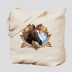 Horse Lover Crest Graphic Tote Bag