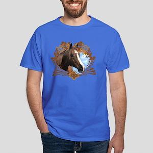 Horse Lover Crest Graphic Dark T-Shirt