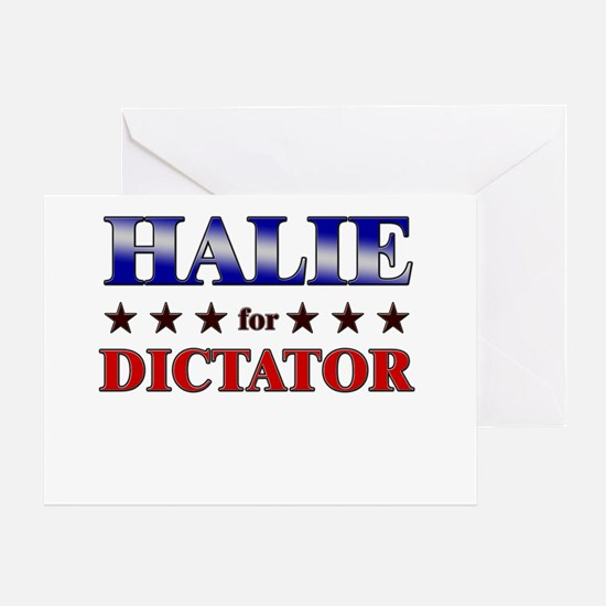 HALIE for dictator Greeting Card