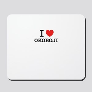 I Love OKOBOJI Mousepad