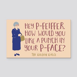 Golden Girls Pfeiffer Rectangle Car Magnet