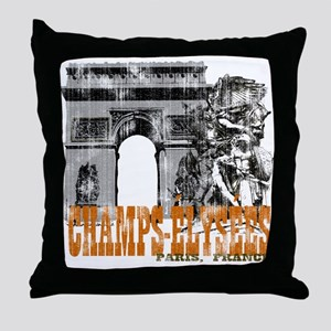 Champ Elysees Distressed Throw Pillow