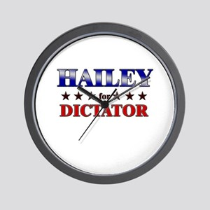 HAILEY for dictator Wall Clock