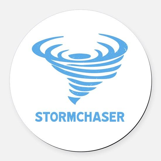 Funny Weather Round Car Magnet