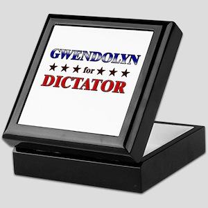 GWENDOLYN for dictator Keepsake Box