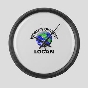 World's Okayest Logan Large Wall Clock