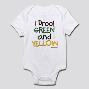 GREEN and YELLOW (GB)  Infant Bodysuit