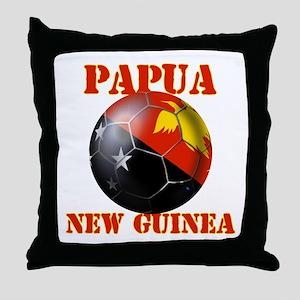 Papua New Guinea Soccer Throw Pillow
