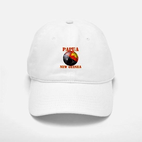 Papua New Guinea Soccer Baseball Baseball Cap