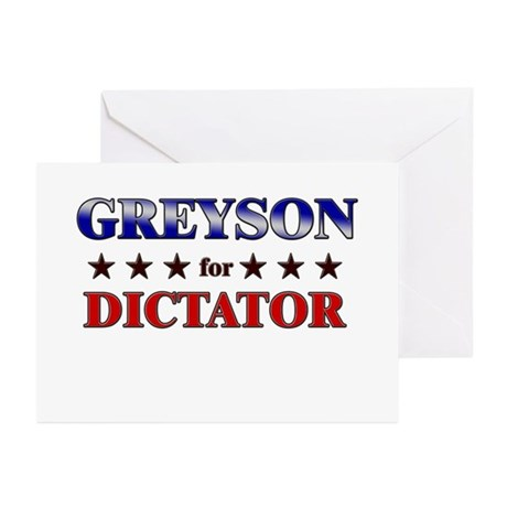 GREYSON for dictator Greeting Cards (Pk of 20)